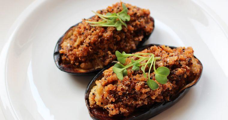 Eggplants Stuffed Quinoa