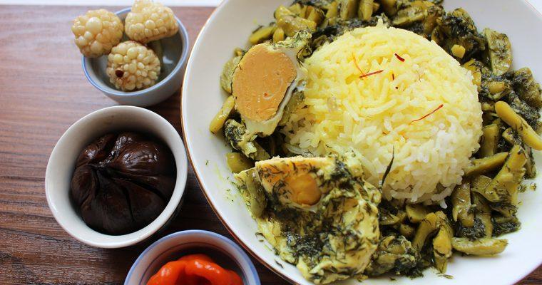 Baghala Ghatogh Stew with Fava Beans
