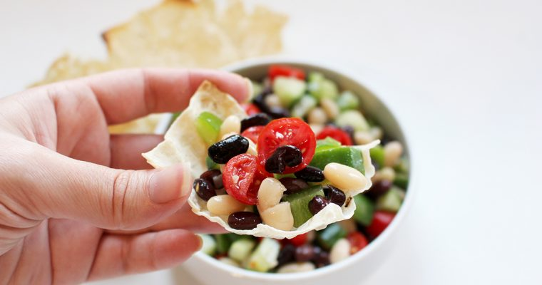 Black Bean and Cucumber Salad