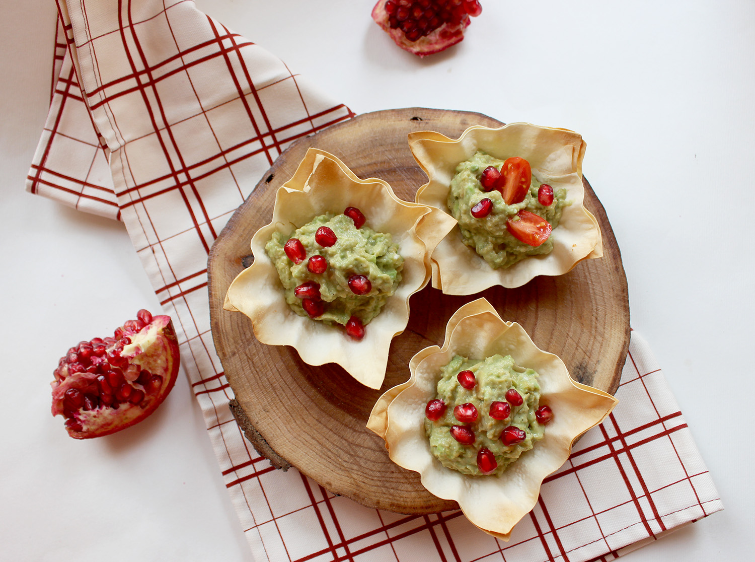 Avocado Filo Cups