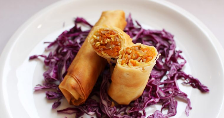 Mung Bean Sprout Phyllo Rolls